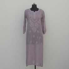 Load image into Gallery viewer, Lavender Viscose Georgette Kurta
