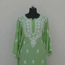 Load image into Gallery viewer, Mint Green Rayon Potli Buttoned Kurta