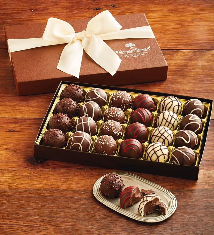 Add A Box Of Delicious Signature Chocolate Truffles by Harry & David