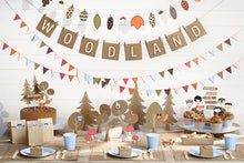 Lade das Bild in den Galerie-Viewer, neutrale babyshower partydeko natural woodland