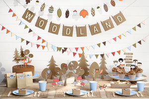 neutrale babyshower partydeko natural woodland
