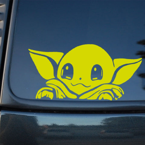 Cute Baby Yoda Car Window Sticker