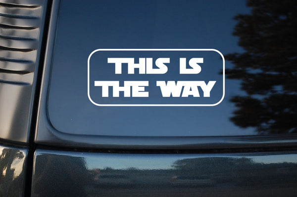 THIS IS THE WAY Baby Yoda Car Sticker