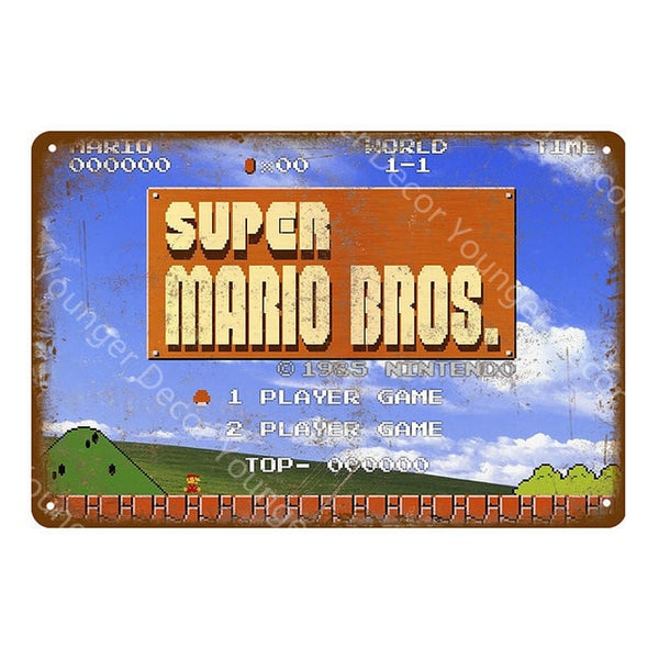 Retro Super Mario Bros Poster