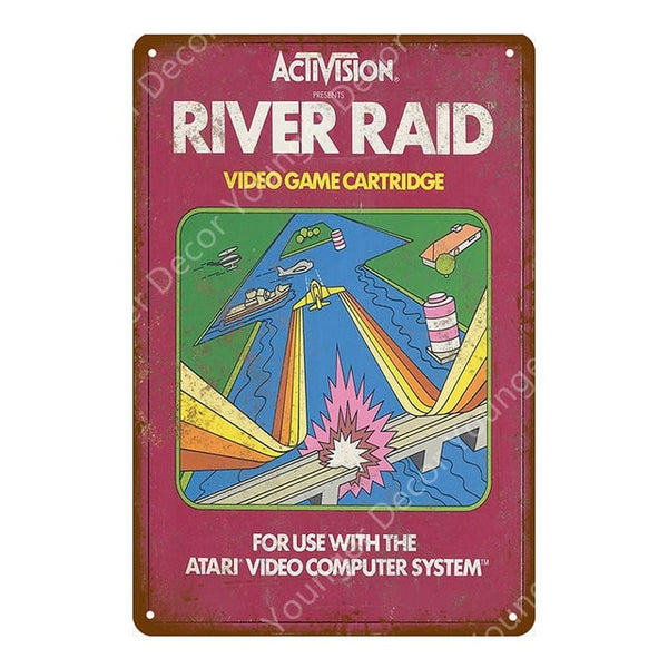 River Raid Retro Gaming Sign