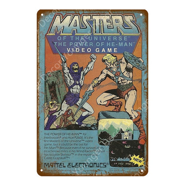 Masters Of The Universe Retro Gaming Poster