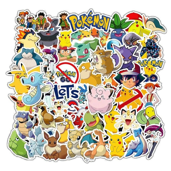Waterproof Pokemon Laptop Stickers