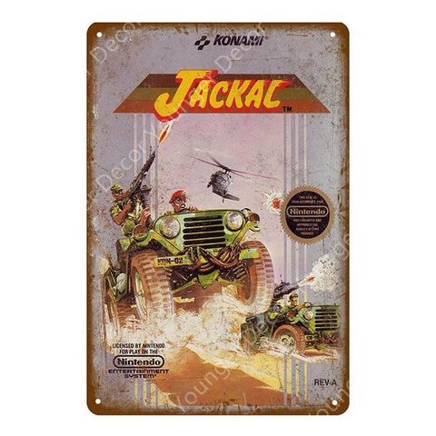 Jackal Konami Vintage Metal Sign