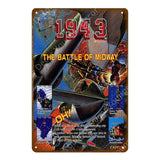 1942 Battle Of Midway Metal Sign
