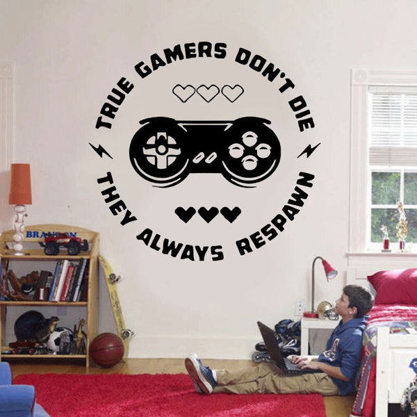 True Gamers Don't Die Wall Art
