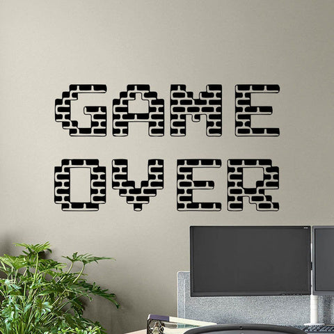 GAME OVER Wall Art Stickers