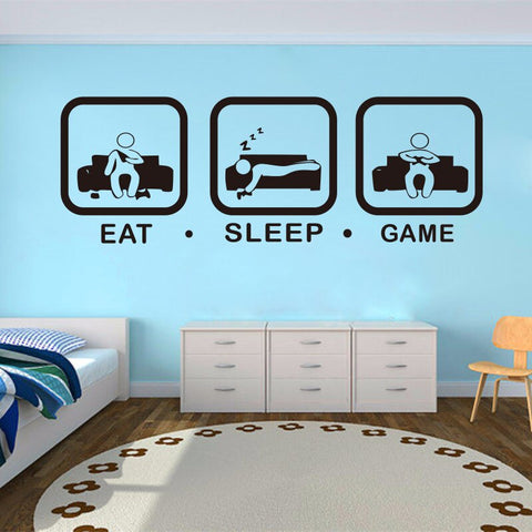 EAT. SLEEP. GAME. REPEAT. Wall Art
