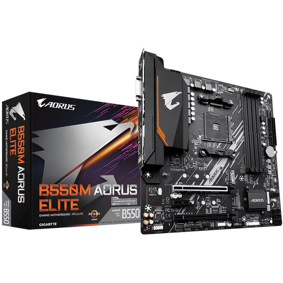 Gigabyte B550M Aorus Elite mATX AM4 Motherboard with Packaging