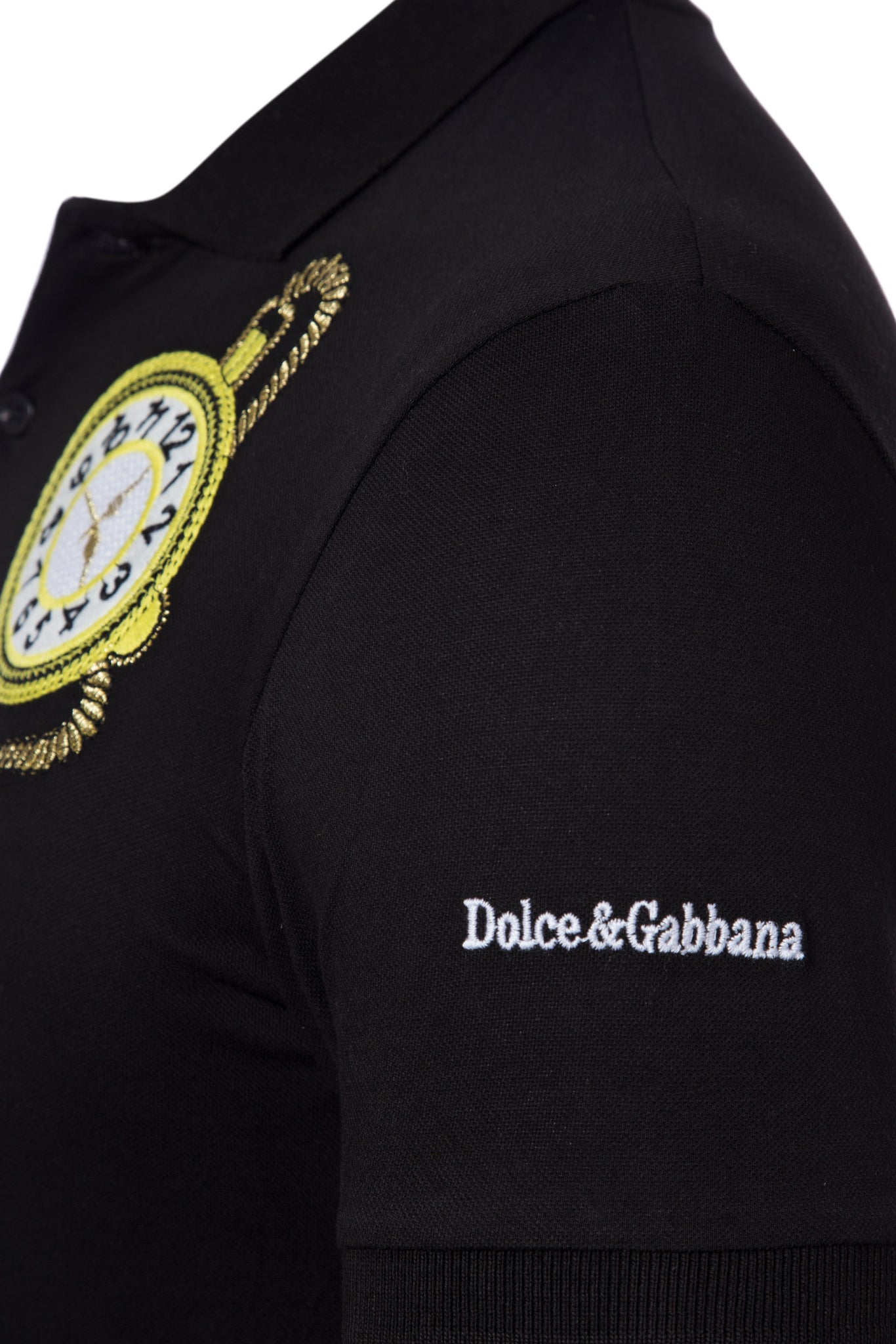 Dolce & Gabbana Black Men Polo Shirt Material Cotton