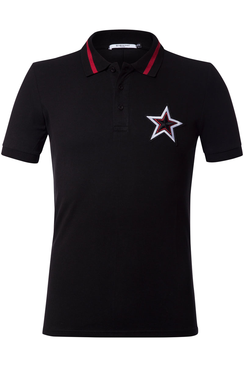 Givenchy  Black Men Polo Shirt Material Cotton