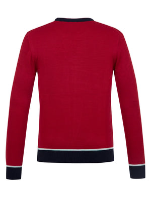Moncler Red Sweater Jumper Pullover Material Cotton