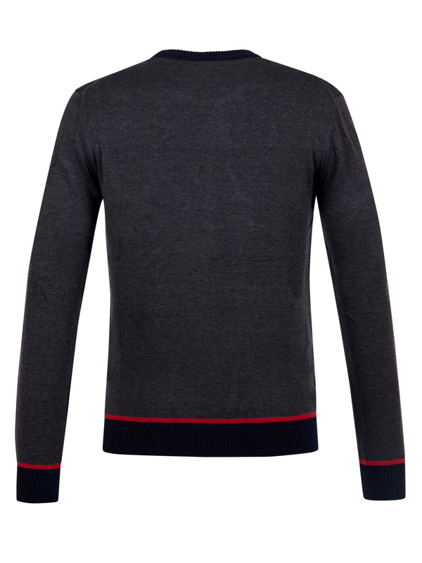 Moncler Grey Sweater Jumper Pullover Material Cotton