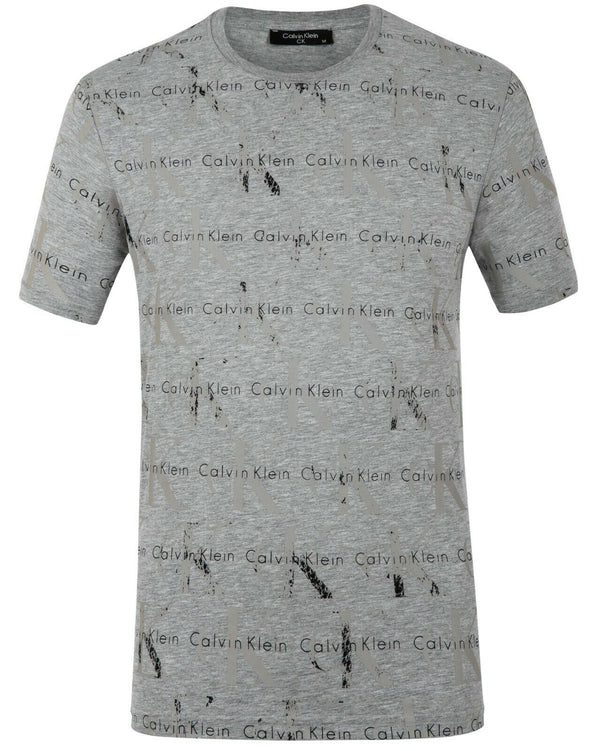 Calvin Klein Grey Men's T-Shirt 100% Cotton