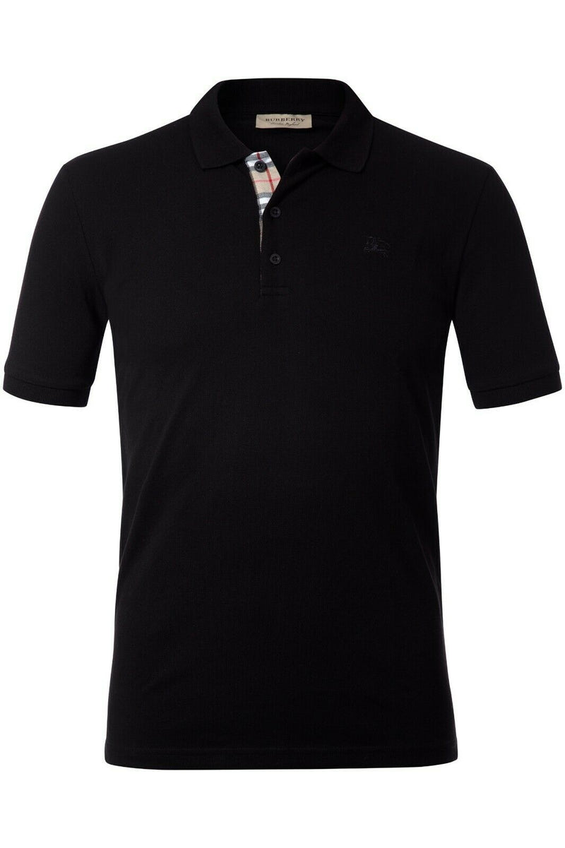 Burberry Black Men Polo Shirt  Material Cotton