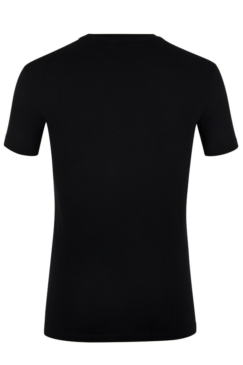 Versace Men T-Shirt Color Black Material Cotton