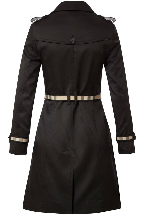 Burberry Black Women's Coat Insulation Material: Polyester