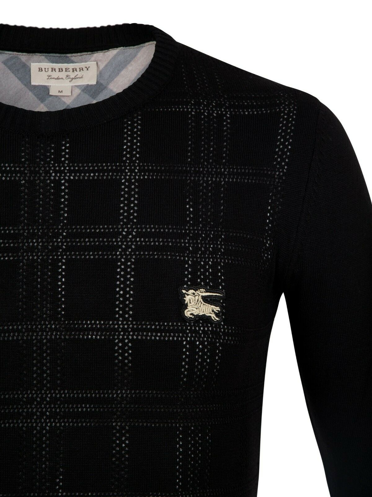Burberry Black  Jumper Pullover Sweater Slim Fit Size !
