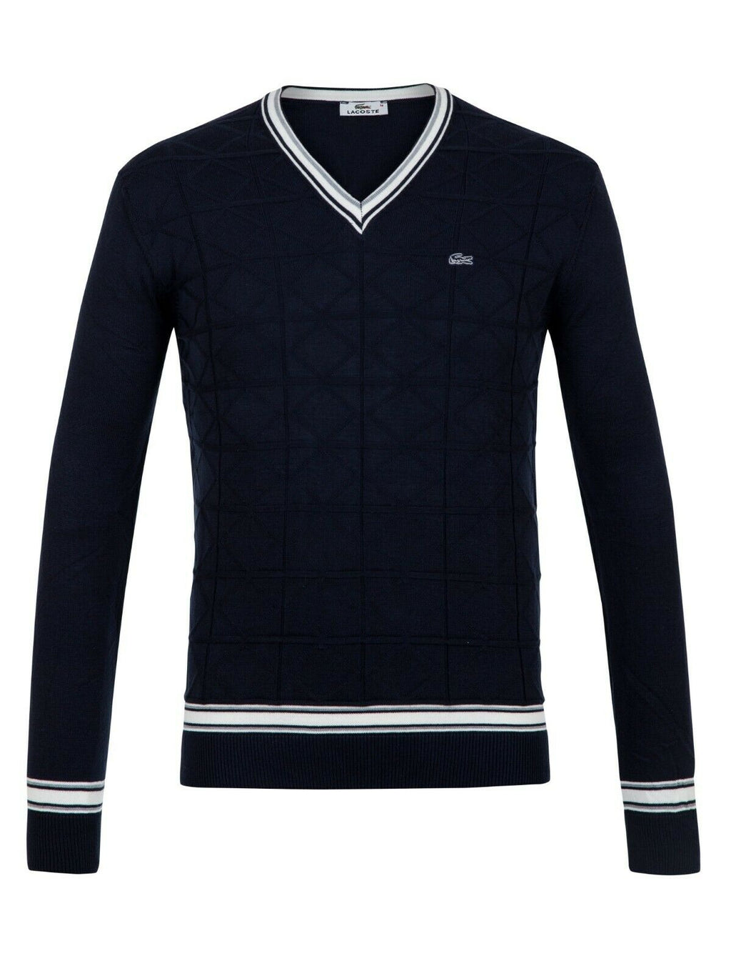 Lacoste Blue Sweater Jumper Pullover Material: Cotton