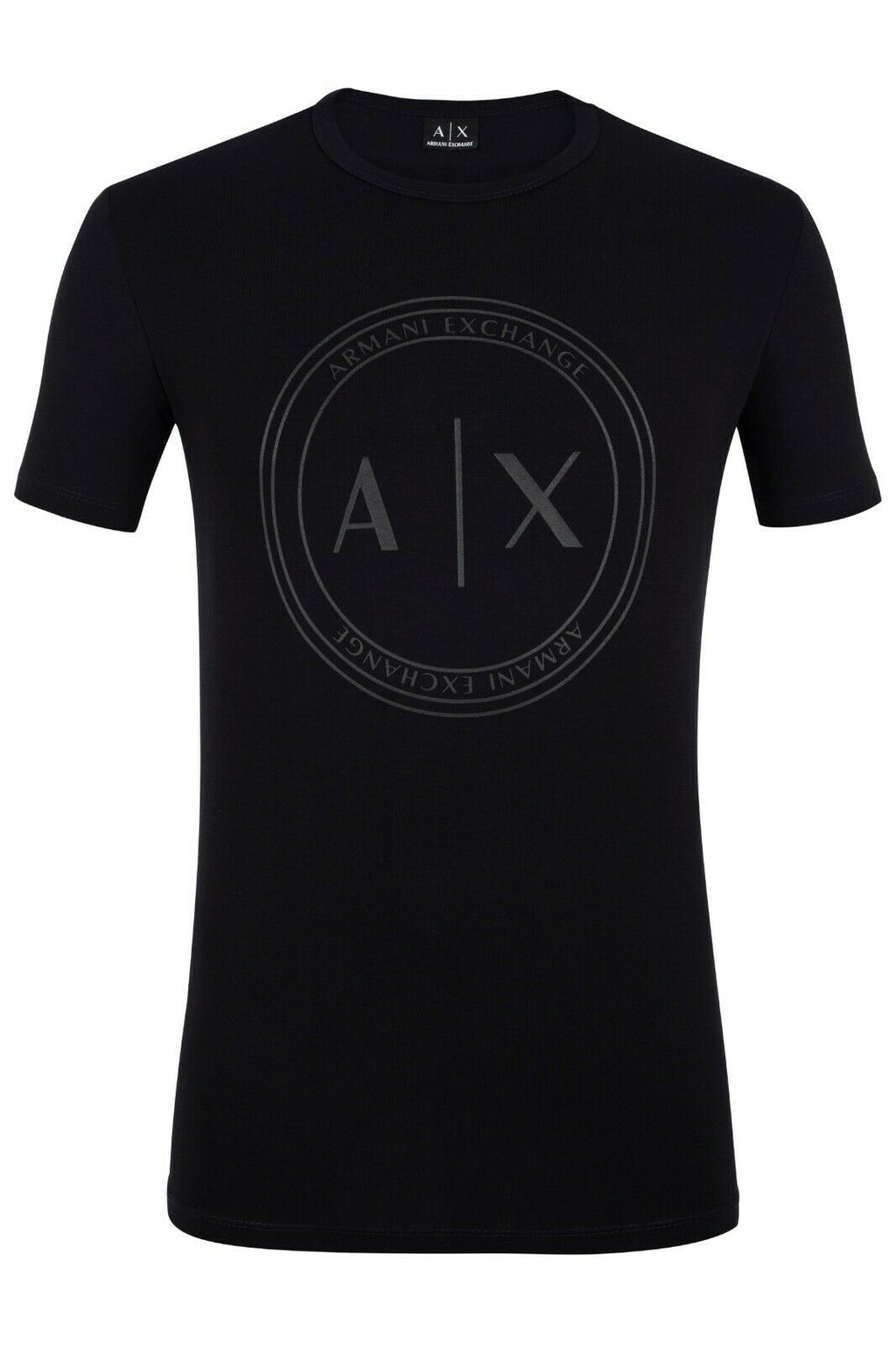 A|X Armani Exchange Men T-Shirt Color Black Material Cotton