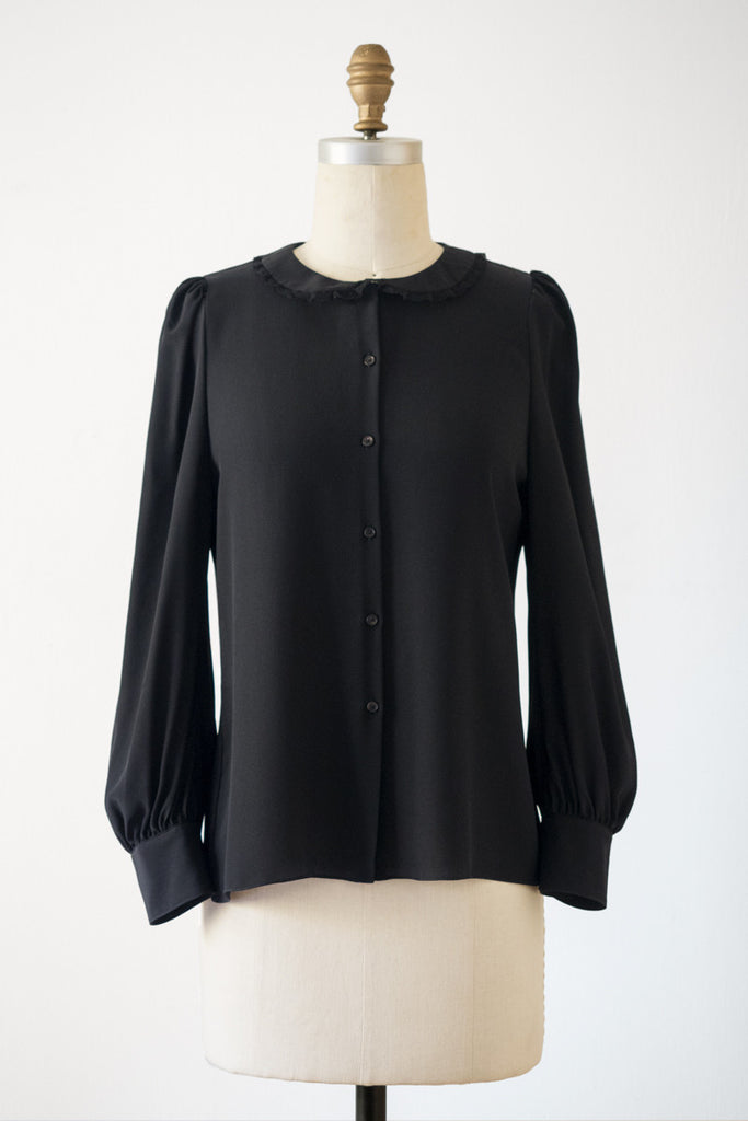 Silk Blouse 102_Black