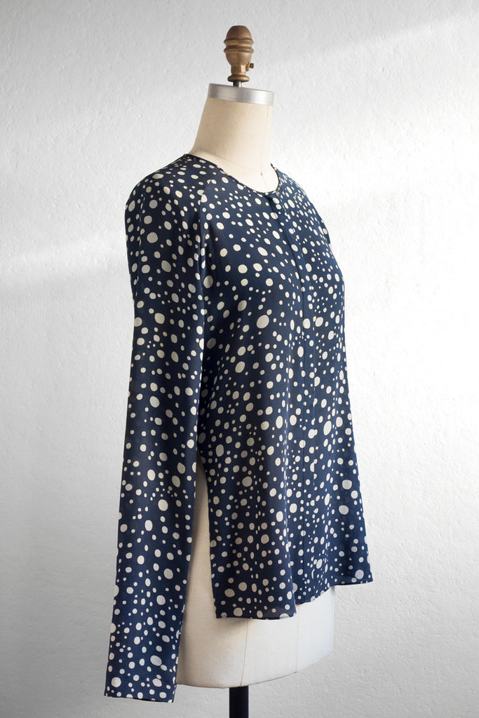 Silk Blouse 104_Polka Dot 01