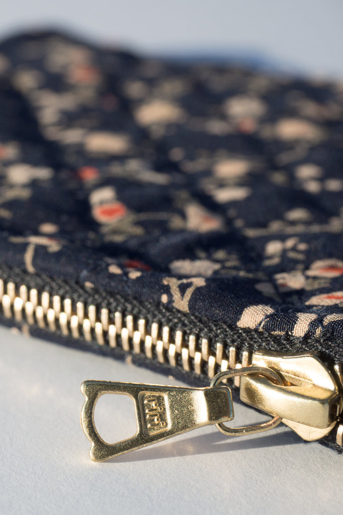 Quilted Silk Wallet_Floral Print 01