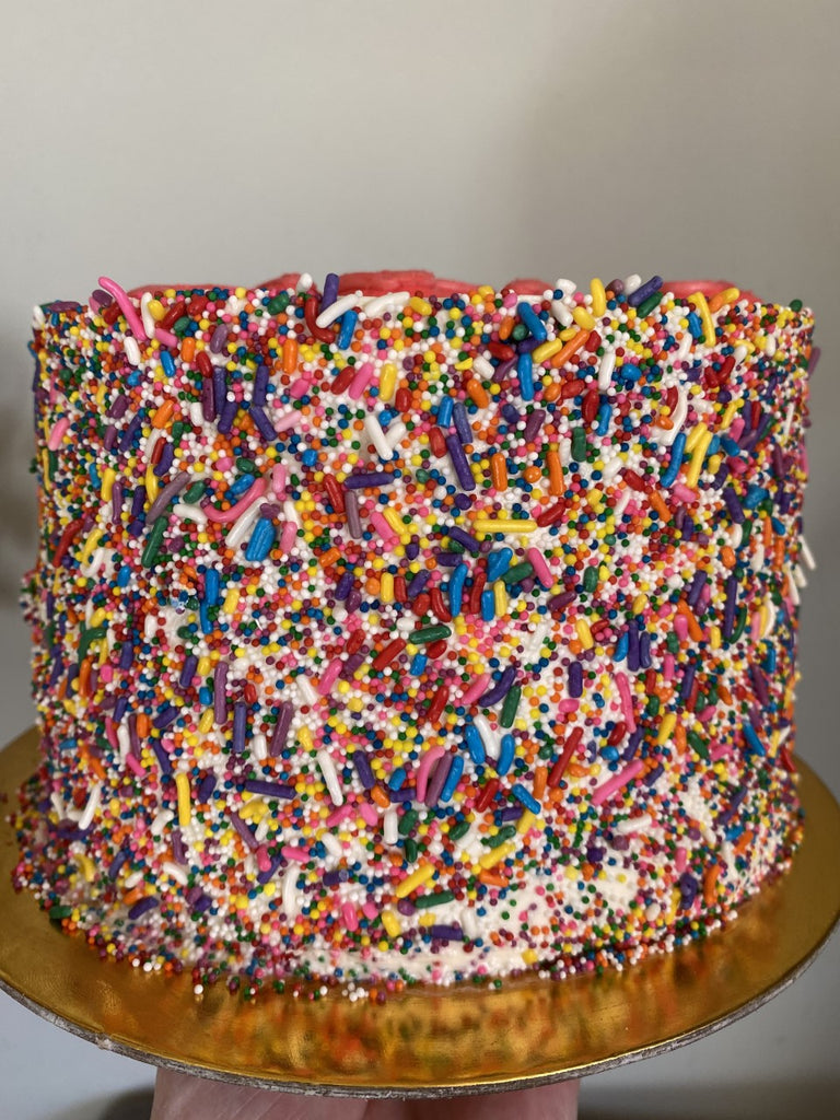 """MOM""  Vanilla Sprinkle Cake"