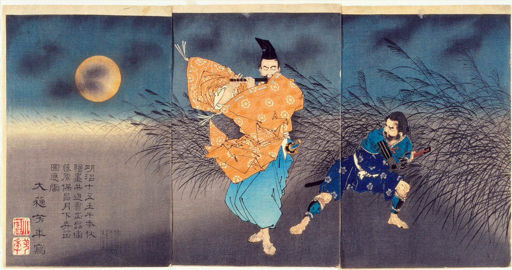 japanese painting triptych
