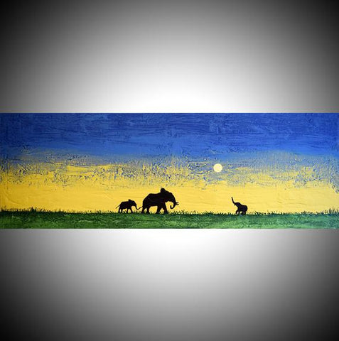 abstract elephant art African Dreams