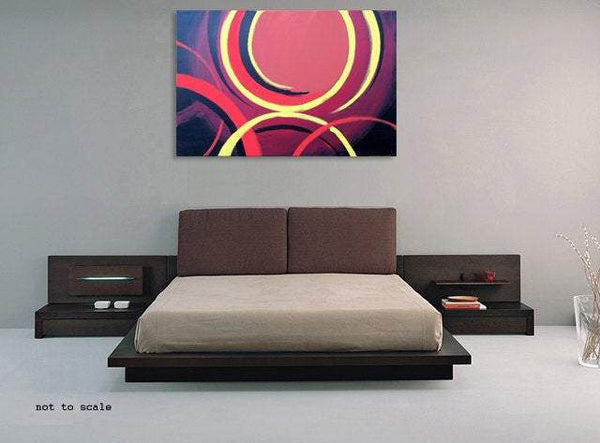 Abstract intersection large paintings for sale