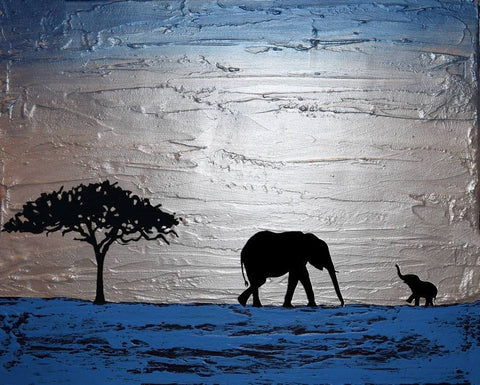 african abstract elephant art