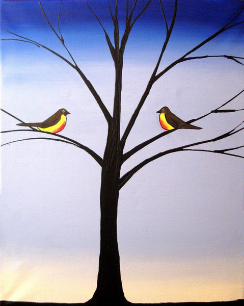 Bird Seasons bird wall art canvas