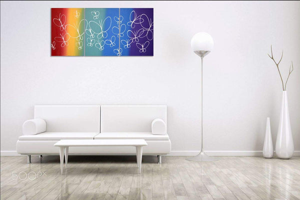 butterfly delight large wall art uk
