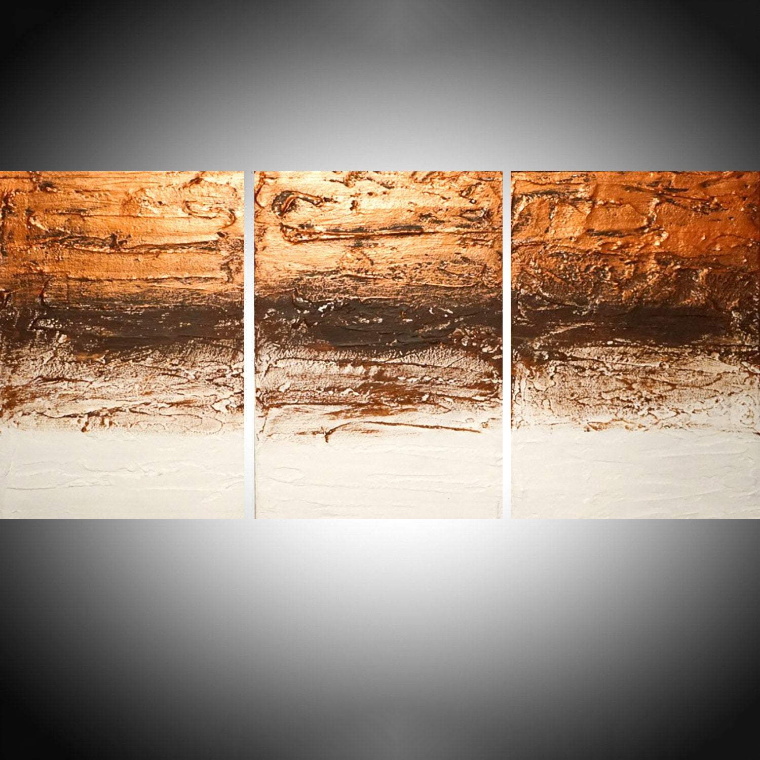 Copper Tones oversized metal wall artwork