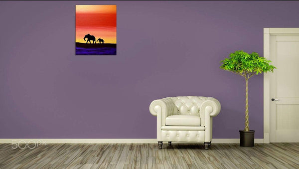 Elephant wall art Hand to hold Onto african art