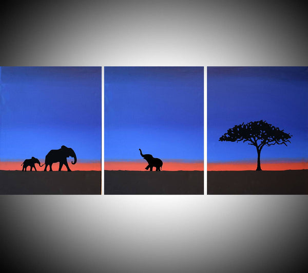 "elephant wall art ""  Welcome Home """