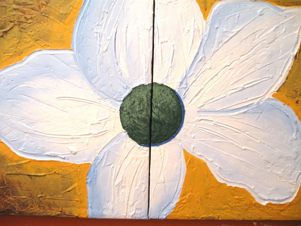 flower art large wall art Floral abstract canvas art original decorative art home made office home art hande painted made Ready to Hang Art