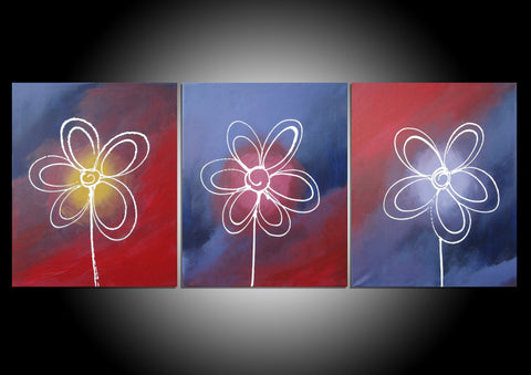 Flowers of Distinction split canvas wall art