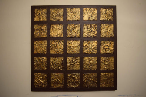 Gold art painting