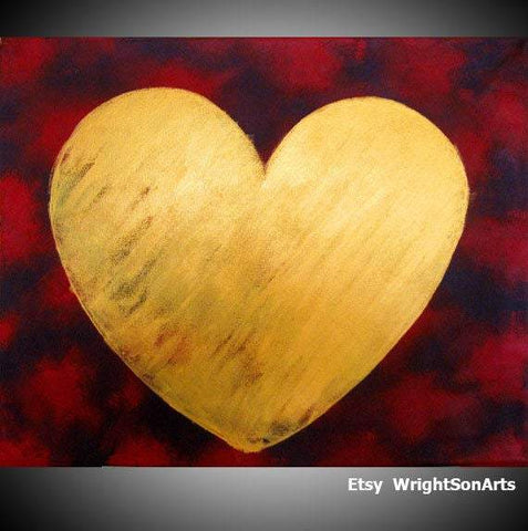 heart canvas wall art