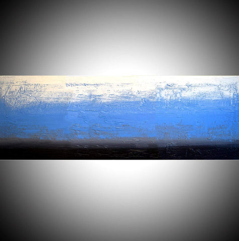 Ice Blue mixed media sculpture