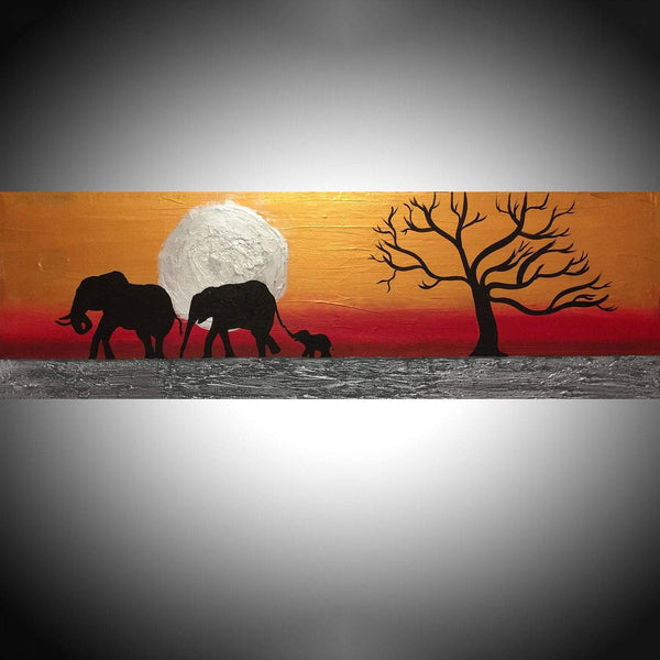 indian elephant art on Silver Sunset