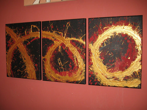 Molten Gold oversized metal wall art