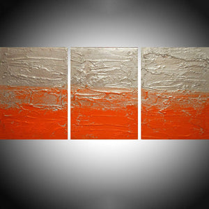 "paintings on canvas, original hand made "" Orange Twist """