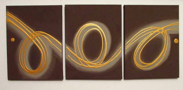 three 3 panel abstract extra large wall art painting triptych abstract original artwork on hanging kunst 48x20""